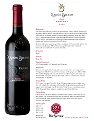 Ramon Bilbao   Rioja   2010 Reserva   Technical Sheet