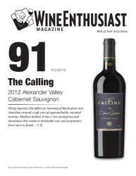 The Calling   2012 Alexander Valley   Cabernet Sauvignon   91 Points   Wine Enthusiast   Review