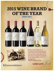 Josh Cellars   2015 Brand of the Year   Market Watch Magazine   Poster
